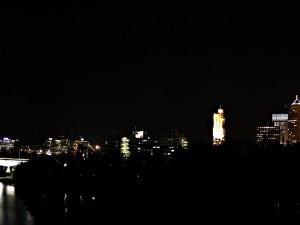 Zona oscura en la ciudad