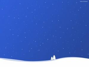 """Postal de Navidad """"Merry Christmas"""""""