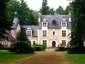 Postal: Casa con la puerta roja