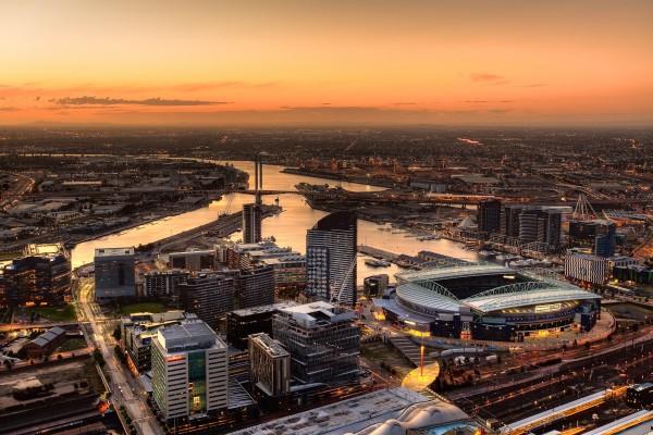 La ciudad de Melbourne, Australia