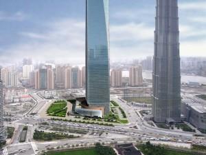 Dos rascacielos muy altos