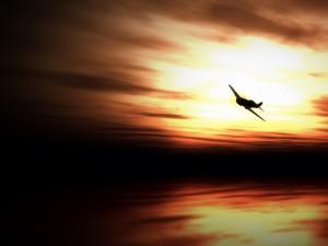 Postal: Avioneta en el cielo