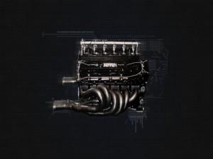 Postal: Motor Ferrari