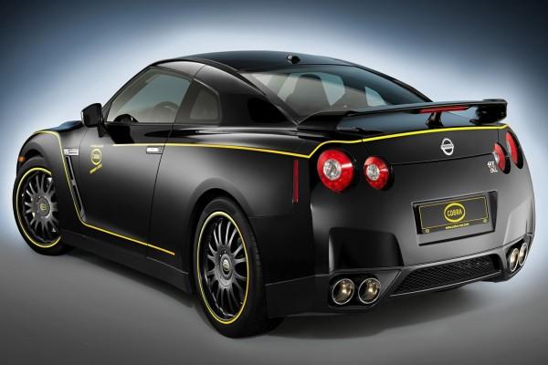 Nissan GTR negro