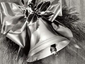 Postal: Una campana de Navidad