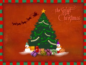 "Postal: Tarjeta ""El Espíritu de la Navidad"""