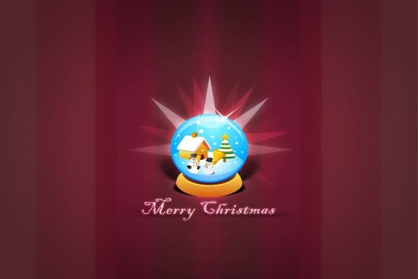 Bola de nieve y Feliz Navidad