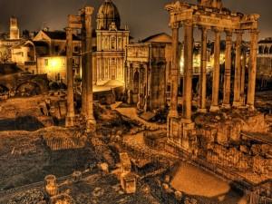 Noche en las ruinas