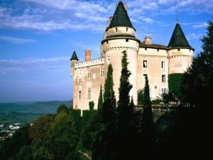 Postal: Un castillo habitado