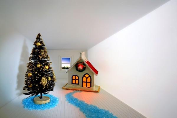 Árbol y casita para Navidad