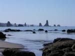 Formaciones rocosas vistas desde la playa