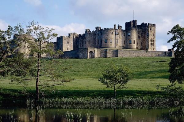 El Castillo de Alnwick en Northumberland, Inglaterra