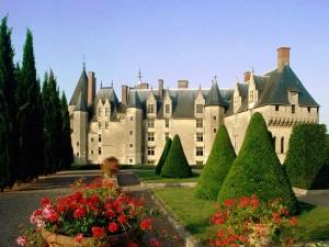 Postal: Jardines del Castillo de Langeais, Francia