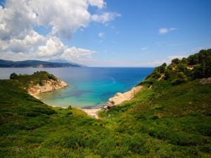 Postal: Playa rodeada de naturaleza
