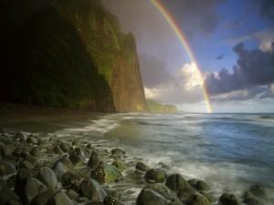 Postal: Arcoíris en la costa