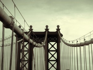 Postal: Estructura superior de un puente