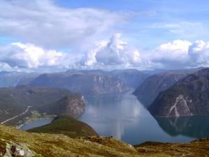 Postal: Fiordo de Sogn, Noruega
