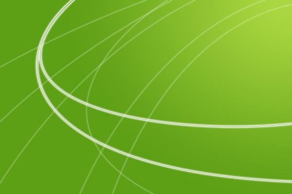 Fondo verde con líneas curvas