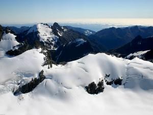 Postal: Capa de nieve en las montañas