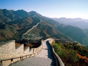 Postal: Contemplando la Gran Muralla China