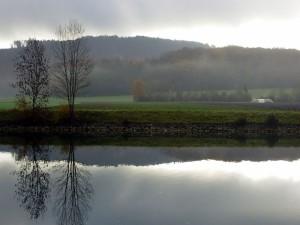 Postal: Niebla al otro lado del agua