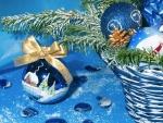 Postal para Navidad y Año Nuevo