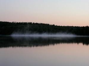 Postal: Bruma en el agua
