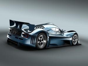 Postal: Bonito coche azul metalizado