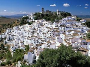 Pueblo de Casares en Málaga (España)