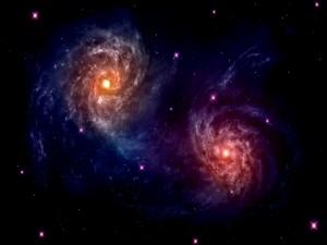Dos galaxias cercanas