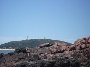 Playa de Piriápolis en verano, Uruguay
