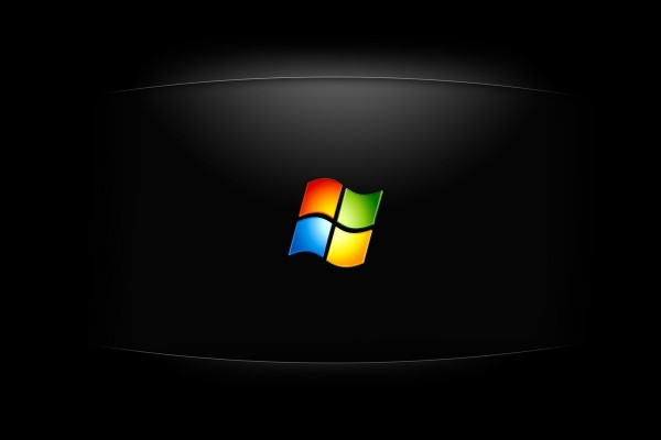 Logo de Windows en fondo negro