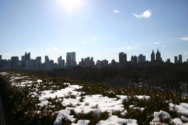 Restos de nieve en la ciudad