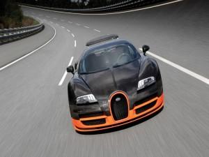 Conduciendo un Bugatti