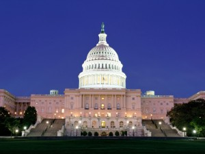 Postal: Noche en el Capitolio de los Estados Unidos