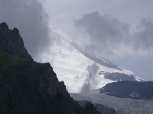 Postal: Día gris en la montaña