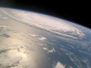 Postal: Nubes en la atmósfera