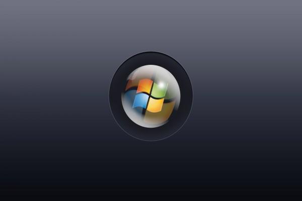 Logo de Windows en una esfera