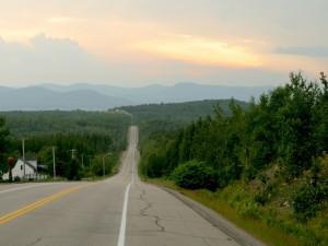 Postal: Carretera cuesta abajo