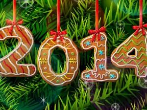 Postal: Nuevo Año con masitas de jengibre