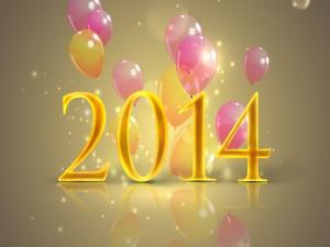 Postal: Festejando el Nuevo Año 2014