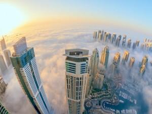 Postal: Vista desde el cielo de la ciudad de Dubai
