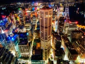 Vista aérea de la ciudad de Sidney