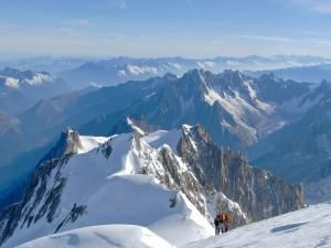 Montañeros en el Mont Blanc