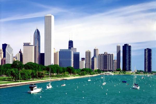 El lago Míchigan en Chicago