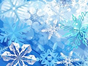 Postal: Copos de nieve