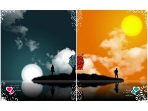 Postal: Dos extremos, noche y día
