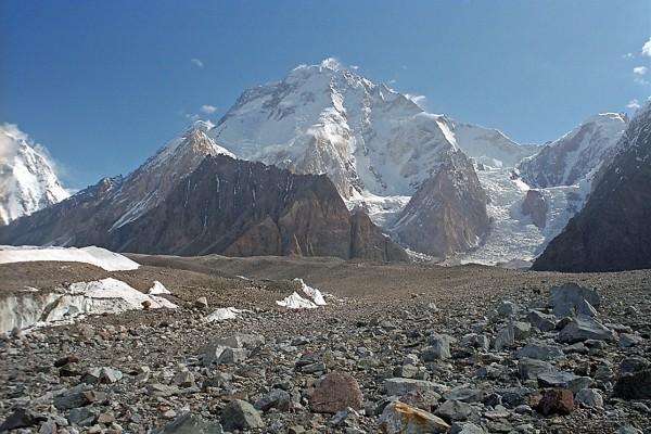 El Broad Peak en la frontera entre China y Pakistán