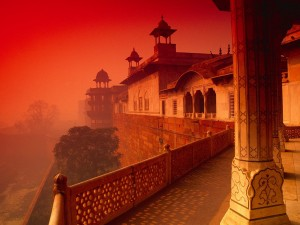 Fuerte de Agra en la India