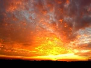 El cielo ardiente